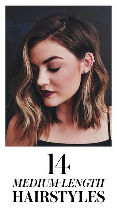 14 Pretty Styles to Try If You Have Medium-Length Hair:  Midlength, shoulder-length hair has a sense of ease and flexibility, which is probably why so many women have it. Here, our favorite medium-length looks of the moment, including Lucy Hale's long bob haircut.   allure.com