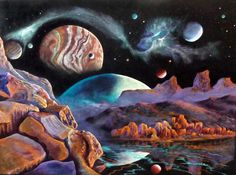 Planets Drawing - Imagination by David Neace Colored Pencil Artwork, Colored Pencils, Imagination Drawing, Planet Drawing, Framed Prints, Canvas Prints, People Art, Watercolor And Ink, Artist At Work
