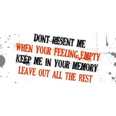 leave out all the rest~ linkin park