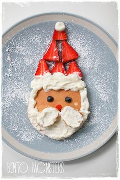 Bento, Monsters: Santa & Snowman Pancakes (I pinned this for the idea-just use gf pancakes,etc)