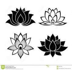 Resultado de imagen para flor de lotus desenho
