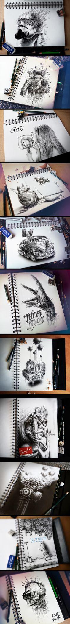 Sketchbook 2013 (La Suite) Style of sketching