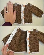 Resultado de imagen de free crochet baby girl cardigan patterns