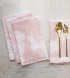 Dusty Rose Shibori-Dyed Napkins, Set of 4 by Flora Poste Studio on Scoutmob