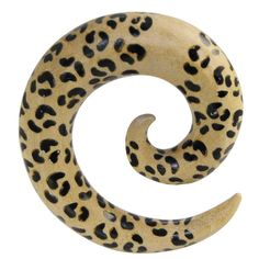 Spirale per piercing al lobo realizzata in Crocodile Wood. Espansione dal fascino tribale disponibile in 4 misure. di Micromutazioni su Etsy
