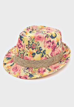 Cute fedora hat! https://www.etsy.com/listing/276916220/vintage-rose-floral-fedora-summer-hat