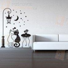 Samolepka na zeď - Dvě kočičky