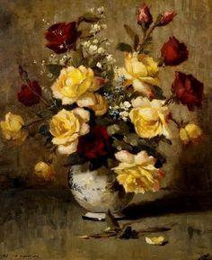 Flores, 1967 Edgar Oehlmeyer (Brasil, 1909-1967) óleo sobre eucatex, 75 x 60 cm