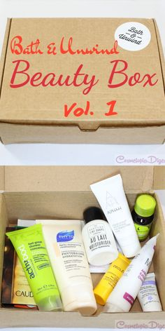 The first Bath & Unwind beauty box. They ship worldwide tracked for free.