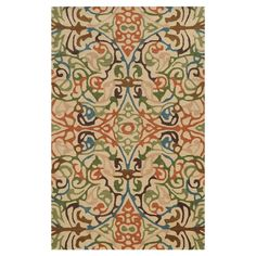 Anchor your living room seating group or define space in the den with this artfully hand-tufted wool rug, featuring a multicolor fretwork motif for eye-catch...