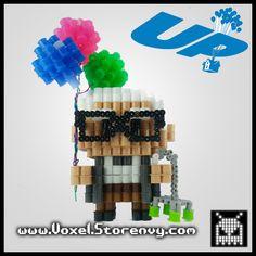 3D Pixar Carl Up Perler beads | Voxel