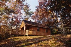 The rustic cabins at Hungry Mother State Park are cozy and offer modern amenities.