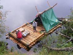Timber Raft   canoe down the Klaralven Sweden