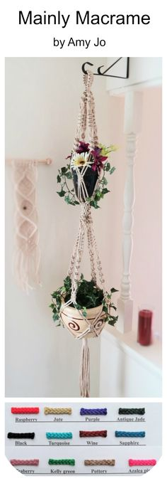 """This neutral macrame plant hanger will go with any decor in your home. You can also choose from many different colors if you want something more vibrant. 2 Tier Macrame Plant Hanger, Double Hanging Planter, Vintage 70s Large Plant Holder, Modern Pot Holder, Off White Boho Pot Hanger, 55"""" PEARL https://www.etsy.com/listing/286699951"""