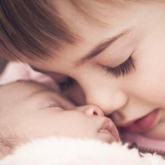 Photo de naissance : avec la grande soeur