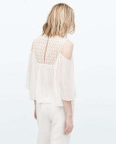 Image 5 of GUIPURE LACE OFF-SHOULDER BLOUSE from Zara