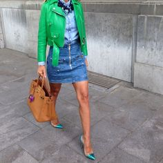 Ootd #balmain#skirt#acne#jacket#gianvitorossi#shoes#jcrew#shirt#hermes#bag #happysunday#