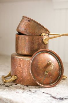 How To Clean and Polish Copper Naturally. Copper pots, copper bottom pots, sinks, mugs, anything you have!
