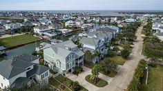 3418 Lanyard Pl Galveston, TX 77554: Photo Another aerial view shows the home's location to the view.  You are just a few minutes out from being on open water.  Note: the seller has estimated the value of the furniture, antiques and collectibles to be $85,000 - $100,000
