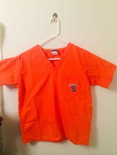 3e790153f723c Details about GelScrubs Medical Scrub Top Syracuse Orangemen University Logo  Sz XS SU BBall