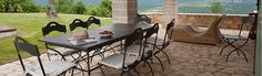 View from the outdoor seating area at Casa Bella, Luxury Villa to Rent in Istria, Croatia.