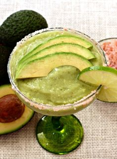 This margarita is made with tequila, agave and fresh avocado - a drink that's good for you too!