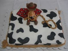 Little Cowboy cake - Woody from Toy Story for Joey -- so cute!