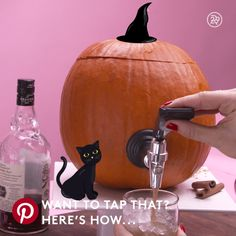 The adult way to use those pumpkins ;)