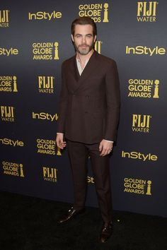 Chris Pine #suits up in Salvatore Ferragamo - HFPA and InStyle's celebration for Golden Globe Awards season