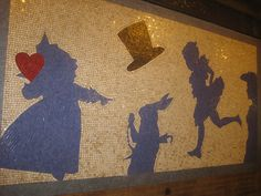 Alice In Wonderland Subway Tunnel Mosaic 2012 NYC 5508 by Brechtbug, via Flickr