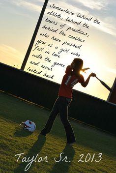 "Baseball Senior.... change to ""boy"" scrapbook a pic like this"