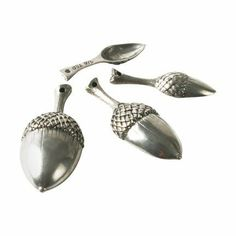 Vagabond House Acorn Measuring Spoons by Vagabond House. $60.75. Express your hospitable spirit by using Vagabond House's delightful pewter Acorn Measuring Spoon Set when you create a culinary masterpiece. Cast in pure pewter and calibrated for perfect measurements, our Vagabond House family hopes you will experience the warmth of tradition with every use.