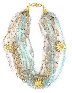 Tony Duquette (American, 1914-1999), 1990s. A topaz, quartz and vermeil necklace, length 18in (45.8cm).