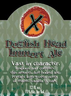 Dogfish Head - Immort Ale Returns For 2013
