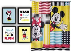 Minnie Mouse and Mickey Mouse  Wash Brush Floss by myfavoritedecor
