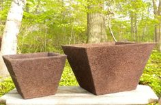 biodegradable pots made from coir or coconut husks