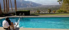 Amazing views from the pool. Palm Springs.