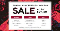 Further reductions & new lines added to sale @ F&F Clothing + get £10 Off £40 code FFCLUB10