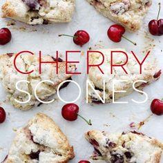 Holiday Baking: Make-Ahead Cherry Scones - Splash of Something Cherry Desserts, Cherry Recipes, Lemon Desserts, Applesauce Spice Cake, Baking Recipes, Dessert Recipes, Scone Recipes, Party Recipes, Bread Recipes