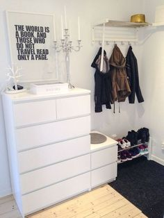 40 Ikea Malm Dresser Hacks - Furniture Home Decor Ikea Malm Dresser, Living Design, Bedroom Dressers, Interior, Bedroom Decor, White Closet, Home Decor, Ikea, Hallway Decorating