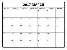 March calendar 2017 printable and free blank calendar