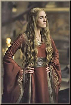 Cersei Lannister (Game of Thrones)  Front view of the dress I'm inspired by for my own Cersei dress!