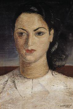 Portrait of a Woman, 1934 by Candido Portinari (Brazilian 1903-1962)