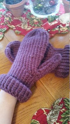 Big Fat Mittens in Fig Purple by GypsySoulsKnitting on Etsy