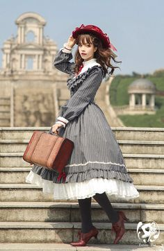 LolitaWardtobe - Bring You the latest Lolita dresses, coats, shoes, bags etc from Trustworthy Taobao indie Brands. We never resell Lolita items from untrustworthy Taobao stores. Harajuku Fashion, Kawaii Fashion, Lolita Fashion, Cute Fashion, Rock Fashion, Moda Lolita, Lolita Mode, Estilo Lolita, Kawaii Dress