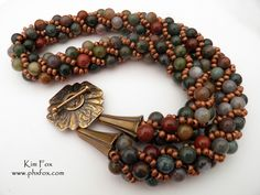 Fancy Jasper Twist Kumihimo Necklace with Brocade Toggle from www.biz This necklace is one of the classes I teach. Jewelry Crafts, Handmade Jewelry, Artisan Jewelry, Jewelry Ideas, Beaded Necklace, Beaded Bracelets, Necklaces, Diy Bracelet, Viking Knit Jewelry