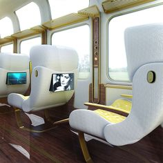 Futuristic Luxury Eurostar Seat Designs by Christopher Jenner