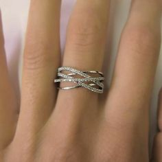 Unique Diamond Rings, Diamond Wedding Rings, Unique Rings, Diamond Jewelry, Wedding Bands, Yellow Engagement Rings, Deco Engagement Ring, Vintage Engagement Rings, Criss Cross