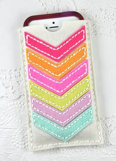 Multicolor Chevron Phone Case by Dawn McVey for Papertrey Ink (July 2014)