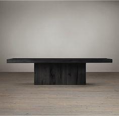 Reclaimed Russian Oak Plinth Coffee Table